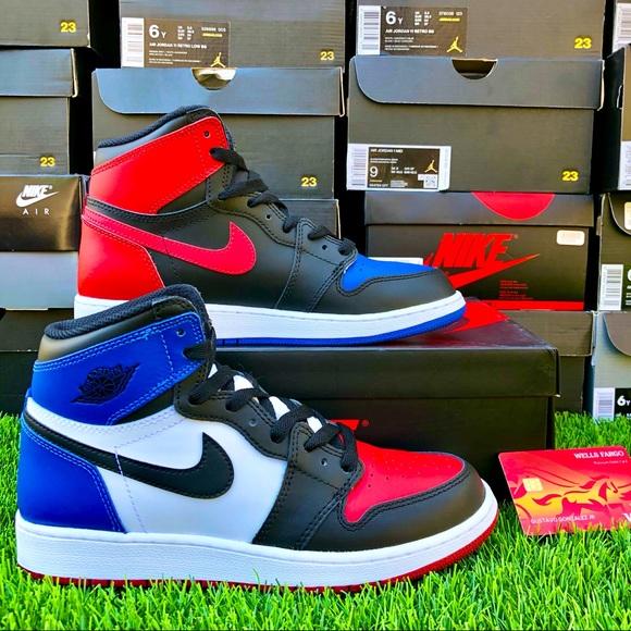 Nike Air Jordan 1 Retro GS 'TOP THREE' sz 6Y